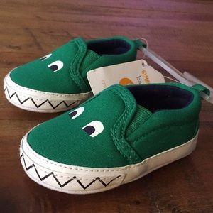 Gymboree 3-6mos alligator baby shoes